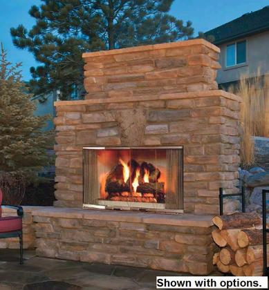 "Montana42 42"" Montana Outdoor Wood Burning Fireplace With Traditional Full Refractory Lining And Dual Gas Knockouts Up To 61 000 Btus Ul/ulc"