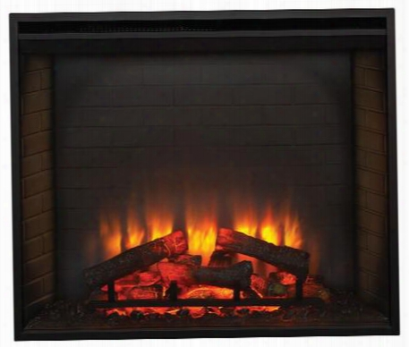 """Sfbi36e 36"""" Simplifire Built-in Traditional Electric Fireplace With Detail Ed Masonry-style Interior And Textured Log Set Up To 4 800 Btus Ul/ulc"""