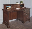 "Belcourt ER-BLC-K-ODK54DH-D Home Office Set with 54"" Single Pedestal Desk and 48"" Hutch in Cherry"
