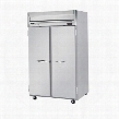 "HFS2-1S 52"" Horizon Series Two Section Solid Door Reach-In Freezer 49 cu.ft. Capacity Stainless Steel Front Gray Painted Sides and Stainless Steel"