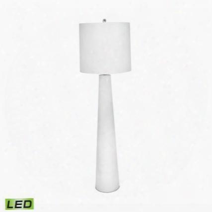 202-led White Obelisk Led Floor Lamp With Night Light White