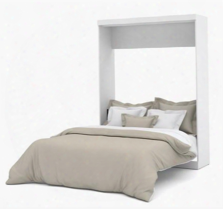 """25184-17 Nebula 89.1"""" Tall Queen Wall Bed With Euroslat Mattress Support System In"""