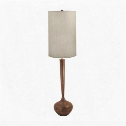 444 Wooden Tulip Floor Lamp Woodtone