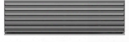 "7020163 (stainless Steel Flush Inset) 36"" Staibless Steel Pro Louvered Grille For 84"" Finished"