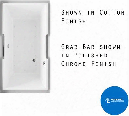 Abr930t#12ypn Lloyd Series Drop-in Airbath Tub With Acryclic Constructiln Slip-resistant Surface And Polished Nickel Grab Bar Sedona Beige