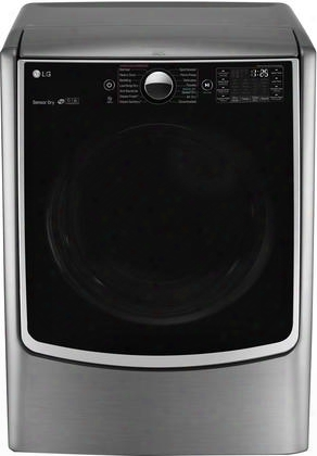 """Dlex5000v 27"""" Eenrgy Star Electric Dryer With 7.4 Cu. Ft. Capacity 5 Temperature Settings 14 Drying Programs Turbosteam Technology Integrated Electronic"""