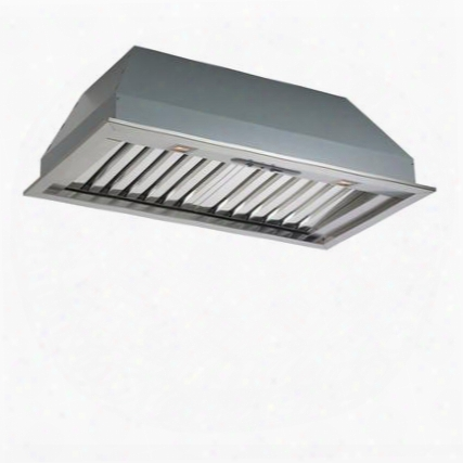 """Fimas34b9ss-2 (liner360-19) 34"""" Insert Collection Massimo Wall Mount Insert With 1000 Cfm Baffle Filters Halogen Lighting And Easy-to-use Slider Controls In"""