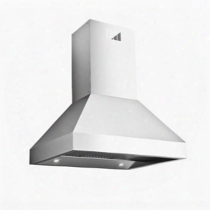 "Fpdpr36i9ss (island360) 36"" Potenza Collection Professional Pyramid Island Mount Range Hood With 1200 Cfm Baffle Filters Halogen Lighting And Slider Control"
