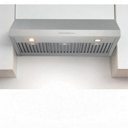 "Fpero30u5ss 30"" Potenza Collection Eros Under Cabinet Range Hood With 600 Cfm Electronic Controls Halogen Lighting And Baffle Filters In Stainless"