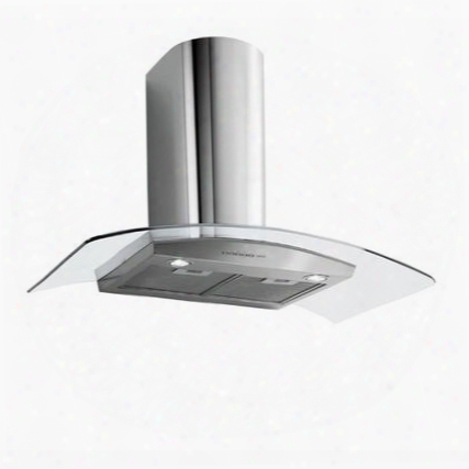 """Fpsax30w6sg 30"""" Potenza Collection Saturno Xl Wall Mount Range Hood With 600 Cfm 4 Speed Electronic Controls Metallic Filters And Halogen Lighting In"""