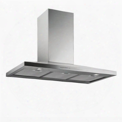 """Fpvux36w6ss 36"""" Potenza Collection Vulcano Xl Wall Mount Range Hood With 600 Cfm 4 Speed Electronic Controls Baffle Filters And Haloge Nlighting In Stainless"""