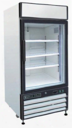 "Mxm112f 25"" X-series Merchandising Display Freezeer With 12 Cu. Ft. Capacity Coated Steel Exterior And Interior Digital Display Cfc-free Refrigerant And"