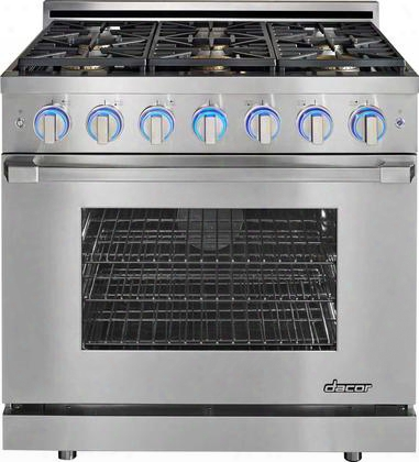 "Rnrp36gcngh 36"" Renaissance Series Freestanding Gas Range With 6 Sealed Burners 5.2 Cu. Ft. Oven Capacity Simmersear Infrared Ceramic Broiler And"