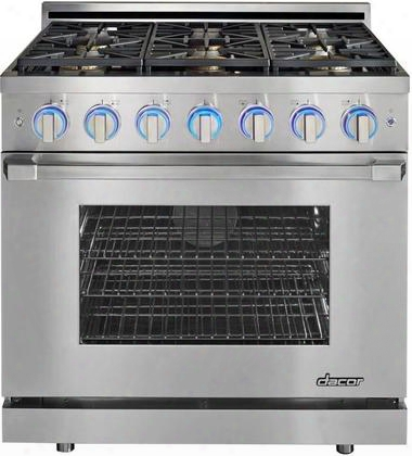 "Rnrp36gsngh 36"" Renaissance Series Freestanding Gas Range With 6 Sealed Burners 5.2 Cu. Ft. Oven Capacity 800-18000 Btu Simmersear Infrared Ceramic Broiler"