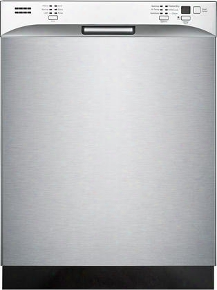 "St6501 24"" Tall Tub Built In Dishwasher With 14 Place Setting Capacity 6 Wash Cycles 52 Db Stainless Steel Interior Double Drying And 24 Hours Delay"