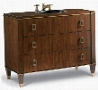 "Preston 112427554224 42.5"" Sink Chest with 2 Drawers Brushed Rose Gold Hardware Selected Asian Hardwood Solids and Veneers in Medium Walnut"