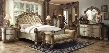 Vendome Collection 22997EKDMC2NB 7 PC Bedroom Set with Eastern King Bed + Dresser + Mirror + Chest + 2 Nightstand + Bench in Gold Patina