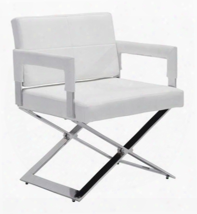 """100383 Yes 32"""" Dining Chair With Sturdy Cross Style Base And Plush Seat And Back In"""