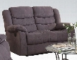51411 Jacinta Recliner Loveseat with Motion Reclining Mechanism Tight Back Cushion Tight Seat Cushions and Velvet Upholstery in Grey