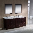"Oxford Collection FVN20-301230MH 72"" Traditional Double Sink Bathroom Vanity with Side Cabinet 5 Soft Close Doors 3 Soft Close Dovetail Drawers and Tapered"