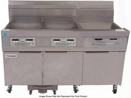 "31814gf 60"" 1814 Series Energy Star Commercial Gasf Ryer With 357000 Btu 189 Lbs Oil Capacity Basket Hangers And Filtration In Stainless"