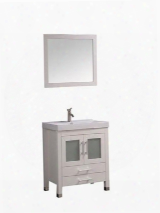 -8111cw Greece 30 Single Sink Bathroom Vanity Set