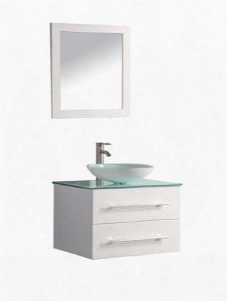 -8114b-36w Cuba 36 Single Sink Wall Mountedd Bathroom Vanity Set