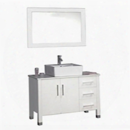 -8118w Aruba 40 Single Sink Bathroom Vanity Set
