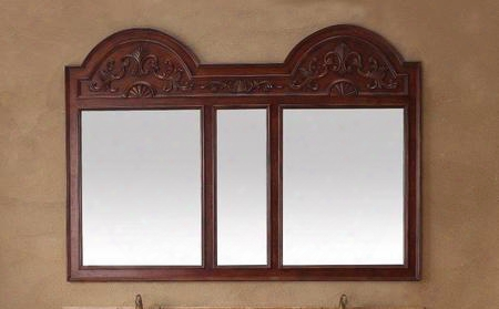 "Amalfi Collection 206-001-5932 68"" X 49"" Mirror With Hand Carving Molding Detail And Solid Birch Frame In"