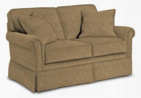 "Audrey 3762-1/8595-83 61"" Wide Loveseat With Two Pillows Skirt Bottom And Duracoil Seat Cushions In 8595-83"