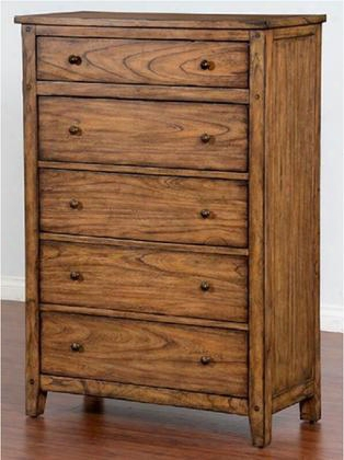 "Belgrade 2334bm-c 55.5"" Genuine Slate Chest With Square Decorative Knobs And Tapered Legs In Burnish"