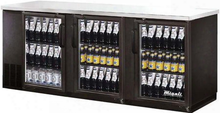 "C-bb72g 73"" Competitor Series Commercial Back Bar Cooler With 19.6 Cu. Ft. Capacity Glass Door Corrosion Resistant Exterior Aluminum Interior And Led"