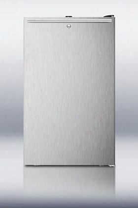 "Cm421blsshh 20"" Top Freezer Refrigerator With 4.1 Cu. Ft. Capacity Facto Ry Instal Led Lock Manual Defrost Adjustable Glass Shelves And Professional"