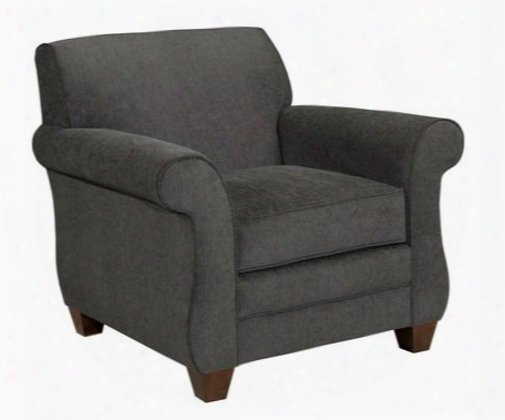 "Greenwich 3676-0/8612-96 39"" Wide Chair With Small Rolled Arms Duracoil Seat Cushion And Tapered Feet In 8612-96"