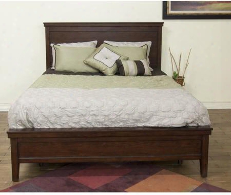 "Napa Collection 2354mg-ck 86"" California King Bed With Tapered Legs And Molding Detail In Mahogany"