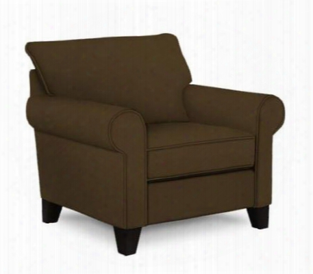 "Noda 4230-0/4007-85 41"" Wide Chair And A Half With Rolled Arms Pillow Back Cushion And Tapered Feet In 4007-85 Brown And Addison Ebony"