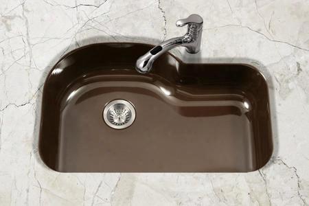 Pch-3700 Es Porcela Series Porcelain Enamel Steel Undermount Offset Single Bowl Kitchen Sink