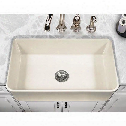 Pts-4300 Bq Platus Series 33-inch Apron-front Fireclay Single Bowl Kitchen Sink