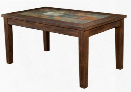 """Savannah Collection 1170ac 60"""" Table With Slate Top Apron And Tapered Leg In Antique Charcoal"""