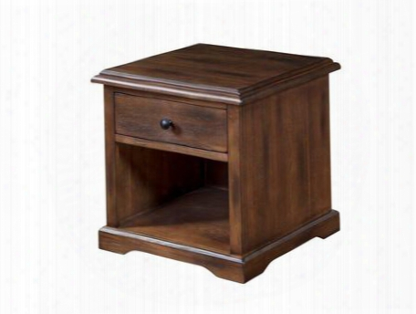 "Savannah Collection 3231ac-e 24"" End Table With Utility Drawer And Bottom Shelf In Antique Charcoal"
