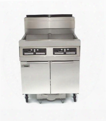 "Scfd460glp 80"" Decathlon Commercial Ga Fryer Abttery With Built-in Filtration 75lb Oil Capacity 150 000 Btu Thermatron Controller And Wide Cold Zone In"
