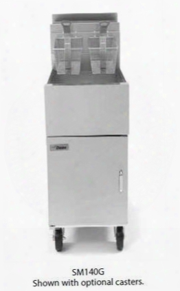 "Sm140glp 16"" Super Marathon Commercial Gas Fryer With 43lb Oil Capacity 105 000 Btu Millivolt Controller Durable Temperature Probe And Thermo-tube Design In"