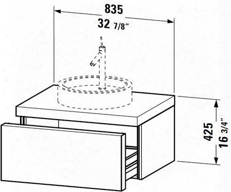 """Starcl S1952608585 33"""" Vanity With 1 Storage Compartment Handleless Push-to-open Technology And Countertop With Cut-out In White High"""