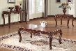 10240CES Birmingham Coffee Table + End Table + Sofa Table with Carved Apron Detail Cabriole Legs Selected Hardwood Solids and Veneers in Brown Cherry