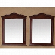 "206-001-DA-5905 Pair of 32"" x 40"" Mirrors with Hand Carving Molding Details and Solid Birch Frame in Cherry"