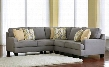 Chamberly 24302-55-77-56 3PC Sectional Sofa with Left Arm Facing Loveseat + Wedge + Right Arm Facing Loveseat Pillows Included and Track Arms in