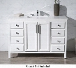 "Emily TY-6262-49-QZ 49"" Single Sink Vanity with Quartz Vanity Top 8 Soft Closing Drawers and Sleek Chrome Hardware in"