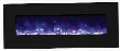 """WM-BI-FI-48-5823-BLKGLS 48"""" Electric Unit with 4 Stage Internal Back Lighting LED Ember Lights Temperature Maintenance Control Remote Control and LED Light"""