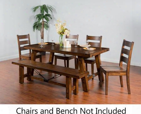 """Tuscany Collection 1380vm 76"""" - 106"""" Extension Table With Turnbuckle Accents Two 15"""" Leaves And Distressed Mahogany Solids In Vintage"""
