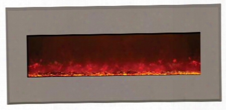 "Wm-bi-58-6421-modernauburn 58"" Electric Firepla Ce With 3 Stage Heater 4 Stage Back Lighting Remote Control Steel Surround Digital Display And Programmable"